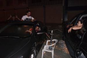 Shisha in the Car