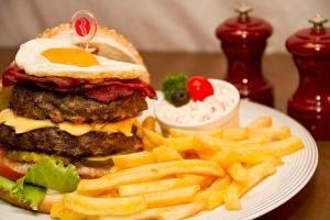 The signature J  Wellington Wimpy Burger